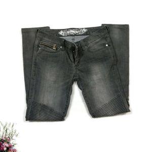 Express Moto Skinny Jeans